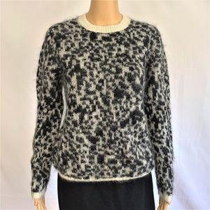 Coach Mohair Crew Neck Leopard Print Sweater